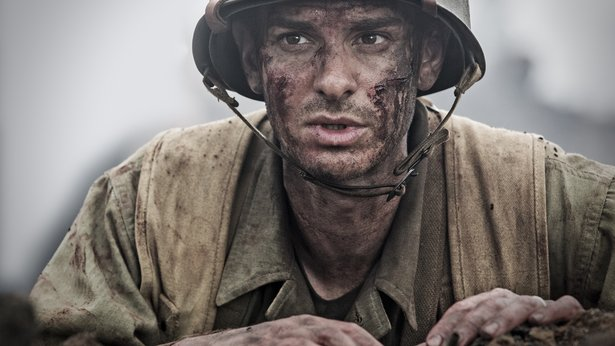 "Andrew Garfield stars in ""Hacksaw Ridge"" from director Mel Gibson."