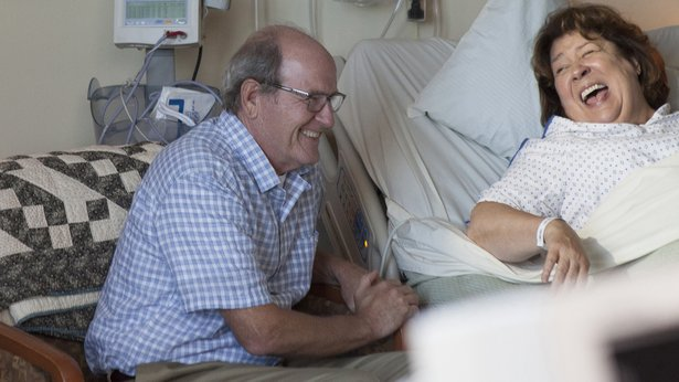 "Richard Jenkins and Margo Martindale star in the family drama ""The Hollars."""
