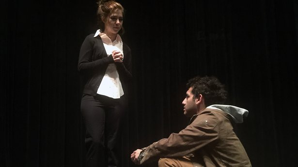 "Tressa Cardwell and Alastair Sigala Ramirez star in TheatreAC's ""King of Shadows."""