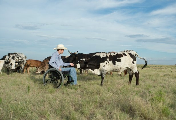 Koben Puckett tends cattle on the family ranch near Canyon. His third invitational bullriding event is Saturday.