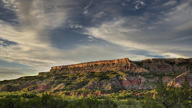 """Colorful Fortress Cliff"" by Jim Livingston will be featured in ""The Healing Canyon"" at Chalice Abbey."