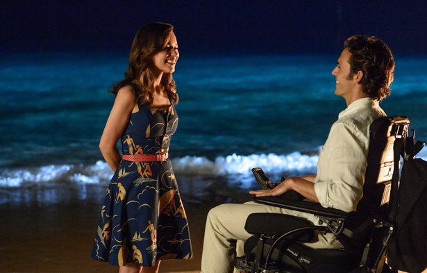 """Me Before You"" stars Emilia Clarke and Sam Claflin."