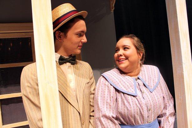 "Cassi Gardner and Spencer Stribling star in ""The Music Man."""