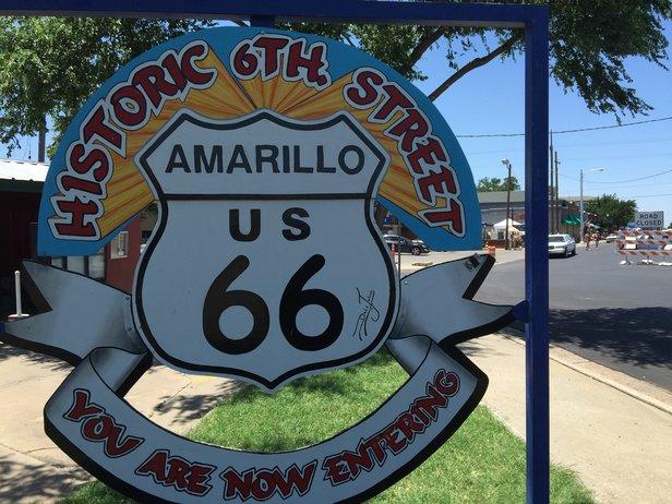 Historic Route 66 in Amarillo