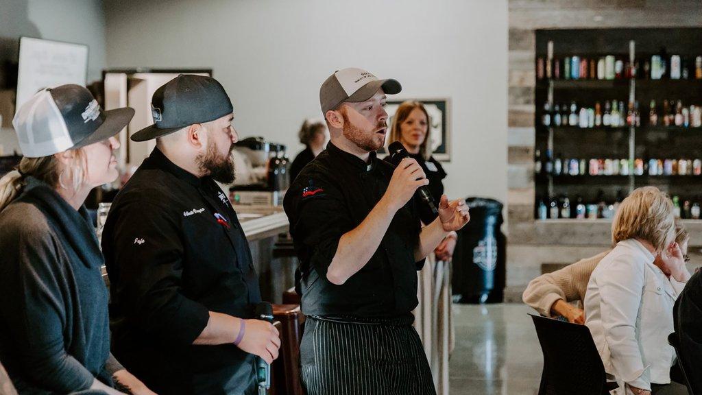 Chefs Rory Schepisi, Albert Vargas and Sam Blackburn