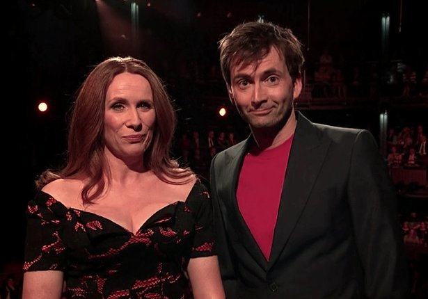 """The Shakespeare Show"" hosts Catherine Tate and David Tennant"