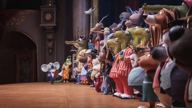 "A menagerie of animals audition for a tuneful competition in ""Sing."""