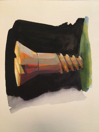"""""""Untitled (Screw)"""" by Stephen Frish will be on view in """"Outside Looking In,"""" opening Friday."""