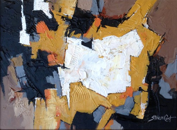 """Steven Cost will display new works, including """"Cappuccino,"""" beginning Sept. 9 at Chalice Abbey."""
