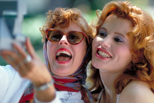 "Susan Sarandon and Geena Davis star in ""Thelma & Louise,"" which gets an anniversary screening this week."