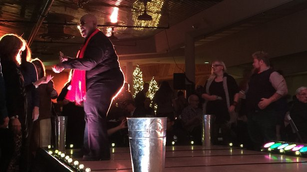 Kimberly Pride Goodman performs as CeeLo Green in the 2015 Turnabout fundraiser.
