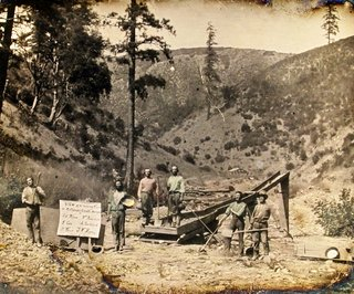 California gold miners, c. 1855.