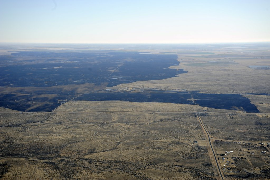 The Dumas Complex Fire, near Amarillo, began March 6; this was photographed March 7.