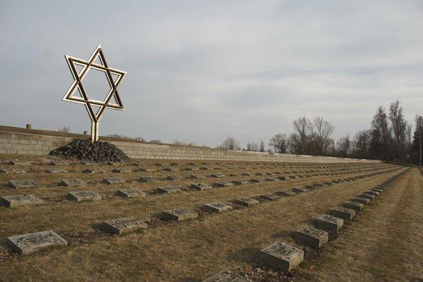Graves of prisoners in Terezin during the World War II.