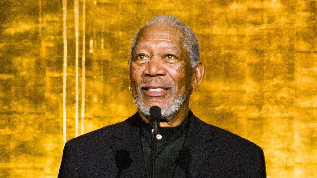 Academy Award-winning actor Actor Morgan Freeman opens the International Jazz Day Sunset Concert at the United Nations Assembly Hall.
