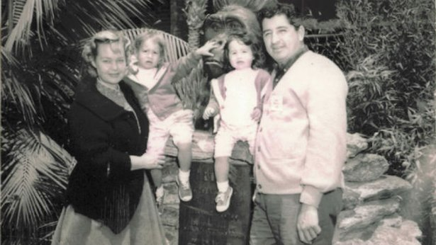Ruben Salazar and his family.