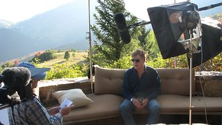 Producer John Howe interviews Robert Redford.
