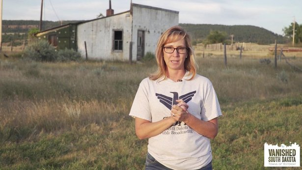 SDPB Producer Stephanie Rissler on location for VAnished South Dakota documentary.jpg