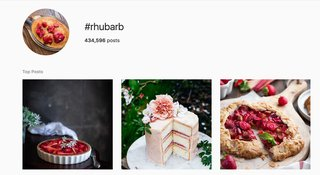 Rhubarb is a Popular Topic on Social Media.