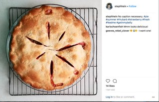 Strawberry Rhubarb Pie by Steph Hein.