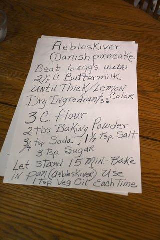 Aebleskiver Recipe with Buttermilk.