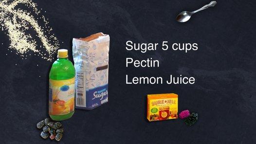 Lemon juice replaces jello.