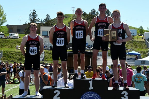 2018 State Track Class AA Boys 1600m Relay Brandon Valley