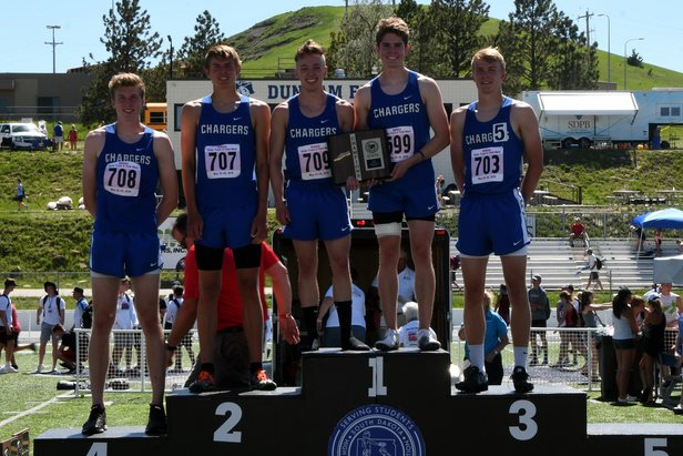 2018 State Track Class A Boys 1600m Relay Sioux Falls Christian