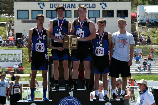 2018 State Track Class A Boys Medley Tea Area