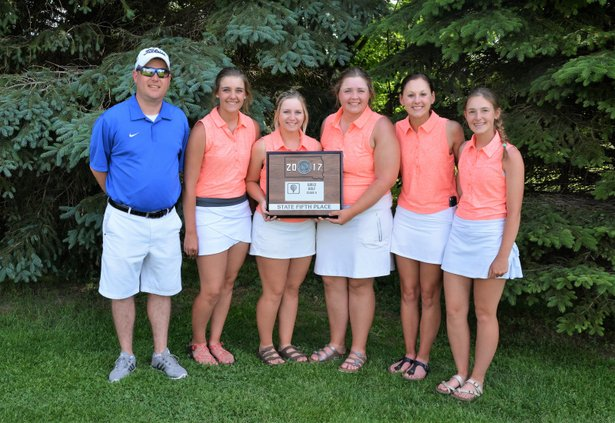 2017 Class A Girls Golf 5th Place Parkston.JPG