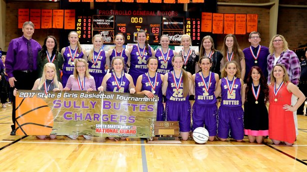 2017 State Class B Girls Basketball 1st Place - Sully Buttes