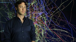 Dr. David Eagleman at the Blue Brain project in Lausanne, Switzerland.