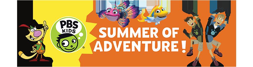 PBS Kids Summer of Adventure Banner