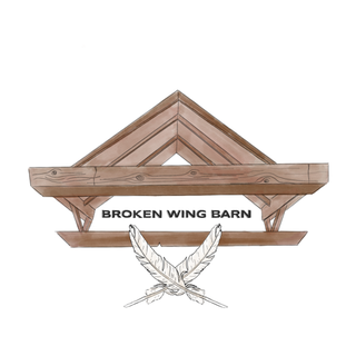 The transparent PNG of the Broken Wing Barn logo.