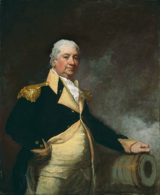 Portrait of Henry Knox by Gilbert Stuart in the Museum of Fine Arts Boston. The painting is oil on panel. It was deposited by the city of Boston in 1876.