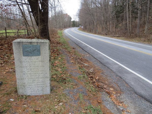 Knox Marker #30 at the NY/Mass line