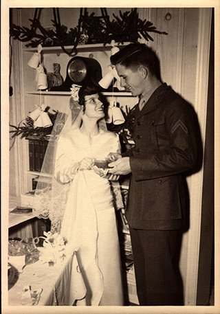 Jim and Mary Owen on their wedding day.