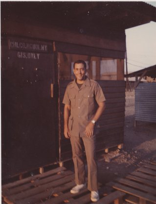 Dave Johnson during tour of duty.