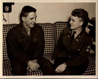 Jim Owen and his mother.