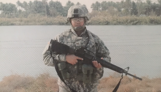 Captain Luis Avila during deployment