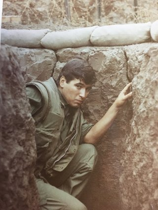 Bill Rider serving in Vietnam.