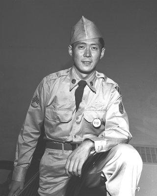 Hiroshi Miyamura in uniform.