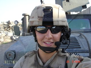 Leigh Ann Hester in Iraq.