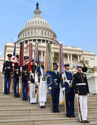The U.S. Armed Forces Color Guard