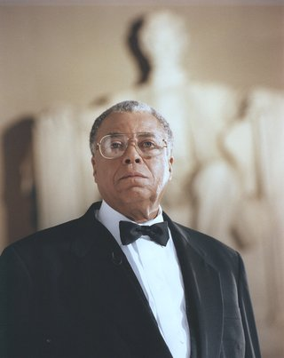 James Earl Jones at the Lincoln Memorial for the 1997 concert
