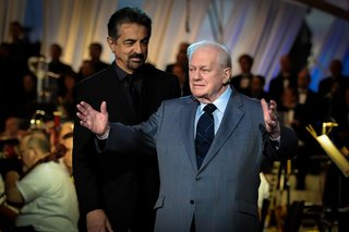 Joe Mantegna and Charles Durning