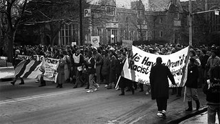 Civil Rights rally on the U of M campus 1960's