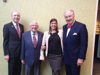 Pictured at the Governor's Awards ceremony:  Dan Alpert, Bill Smith, Jenna Moritz (DPTV major giving officer), and Dana Locniskar (Board Emeritus for DPTV and Board Member of CFSEM).