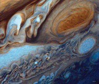 close-up of Jupiter