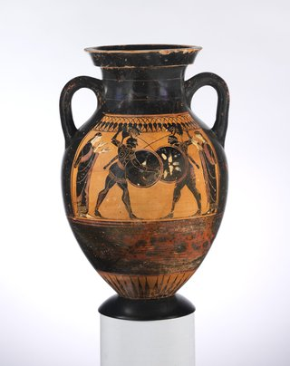 Greek Warriors on a Vase